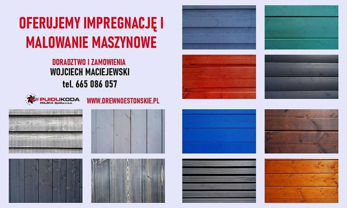 Malowanie i impregnowanie maszynowe drewna PUIDUKODA POLSKA
