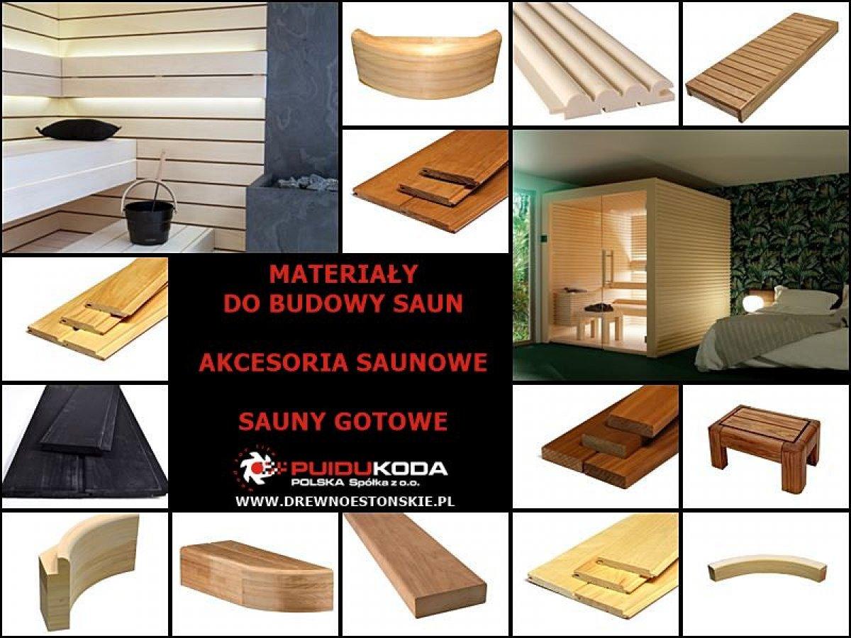 Materiały do budowy saun, akcesoria saunowe, sauny gotowe
