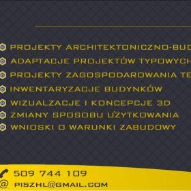 Projekty budowlane, projekty wnętrz, inwentaryzacje, wizualizacje 3D
