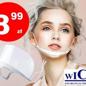 8,99 zł - Przezroczysta maska mini przyłbica