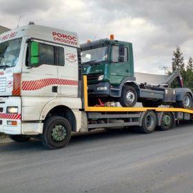 Holowanie tirów, laweta dla samochodów ciężarowych Poznań