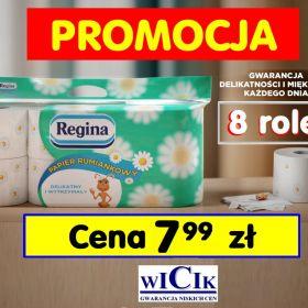 7,99 zł - Regina 8 rolek Papier toaletowy