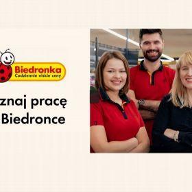 """Praca w sklepie """"Biedronka"""" w Piszu."""