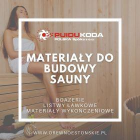 Materiały do budowy sauny