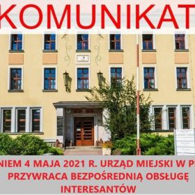 Urząd Miejski w Piszu wznowił bezpośrednią obsługę interesantów