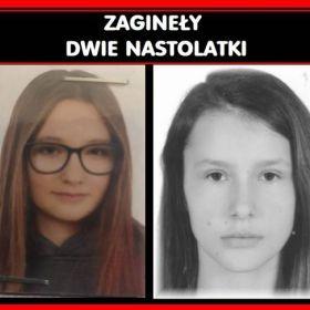 Zaginęły dwie nastolatki. 17-letnia Wiktoria i 16-letnia Klaudia